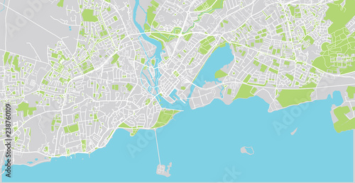Urban Vector City Map Of Galway Ireland Buy This Stock Vector And