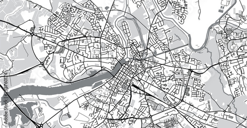 Fotomural Urban vector city map of Limerick, Ireland