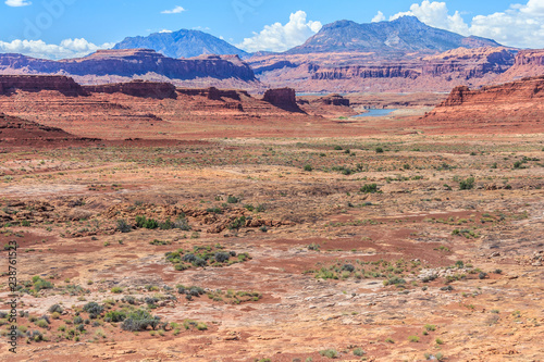 Photo  Dry and arid scenery of Glen Canyon National Recreation  Area