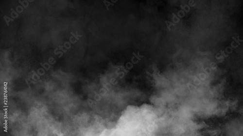 Printed kitchen splashbacks Artist KB Abstract smoke mist fog on a black background. Texture. Design element.