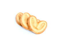Puff Pastry Ears Isolated On W...