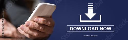 Fotografía  Concept of download