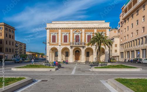 Photo Stands Havana historic building near the port of Livorno, Tuscany, Italy