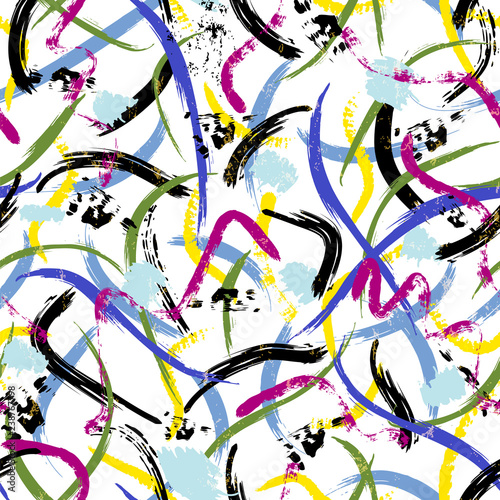 seamless abstract background pattern, with paint strokes and splashes