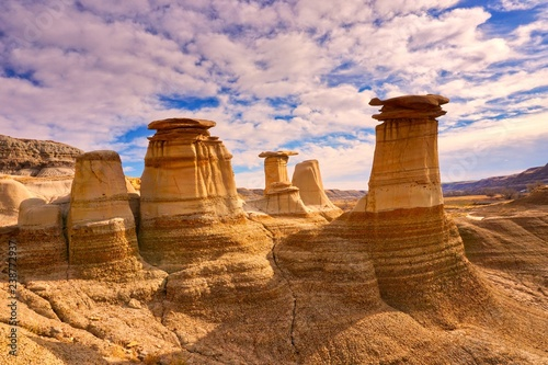 Photo Hoodoos in Drumheller Badlands