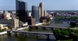 Drone Shot of Grand Rapids Skyline, Michigan