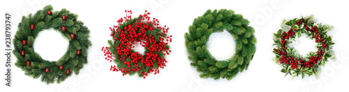 Stampa su Tela Christmas wreath
