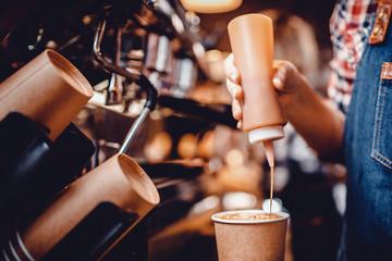 Fototapeta na wymiar baristas coffee drink