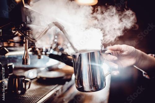baristas coffee drink Canvas Print