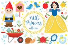 Cute Fairytale Princess Snow W...