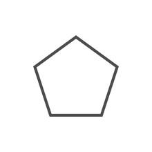 Polygon, Pentagon Shape Icon. ...