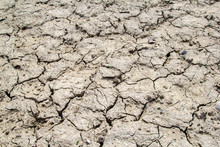 Dried And Cracked Earth Soil F...