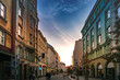 Morning view in the historic city center in Olomouc, Czech Republic