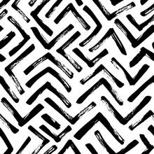 Seamless Pattern With Mosaic B...