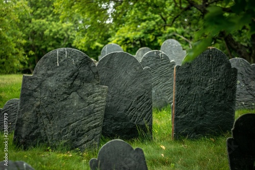 Old Cemetary Canvas Print
