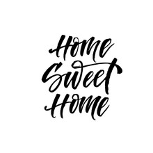 Home Sweet Home Card. Modern B...