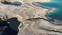 Sinkholes At The Shore Of The Dead Sea In Israel