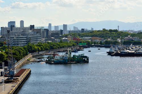 Deurstickers Poort 大阪港