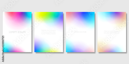 Photo  Set of Colorful Modern Templates with Abstract Blurred Graphic Elements