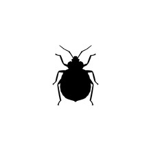 Bug Vector Icon. Bug Sign On White Background. Bug Icon For Web And App