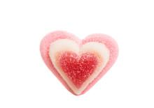 Jelly Hearts Isolated