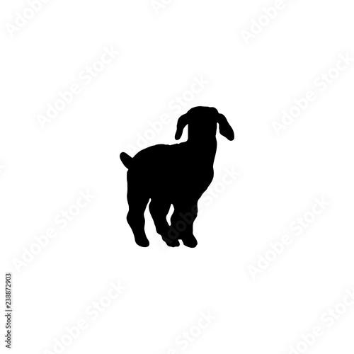goat vector icon  goat sign on white background  goat icon