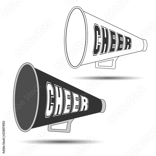 Photo Megaphone-Cheer used by cheerleaders