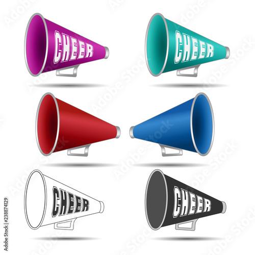 Fotografía  Megaphone-Cheer used by cheerleaders