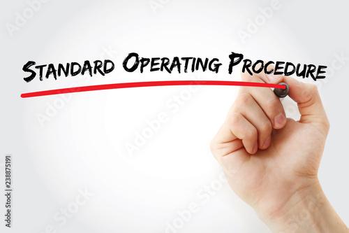 Valokuva  SOP - Standard Operating Procedure acronym, business concept background