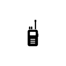 Walkie Talkie Vector Icon. Walkie Talkie Sign On White Background. Walkie Talkie Icon For Web And App