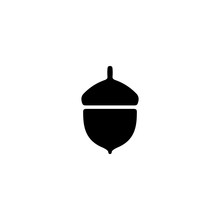 Acorn Vector Icon. Acorn Sign ...