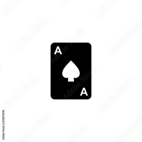 Photo  ace of spades vector icon