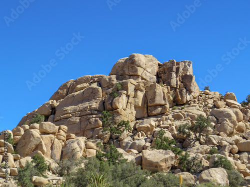 Fotografie, Obraz  Rough and rugged rock formation in the Mojave Desert
