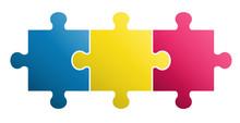 3 Pieces Puzzle Design