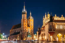 Krakow, Poland. Evening Night ...