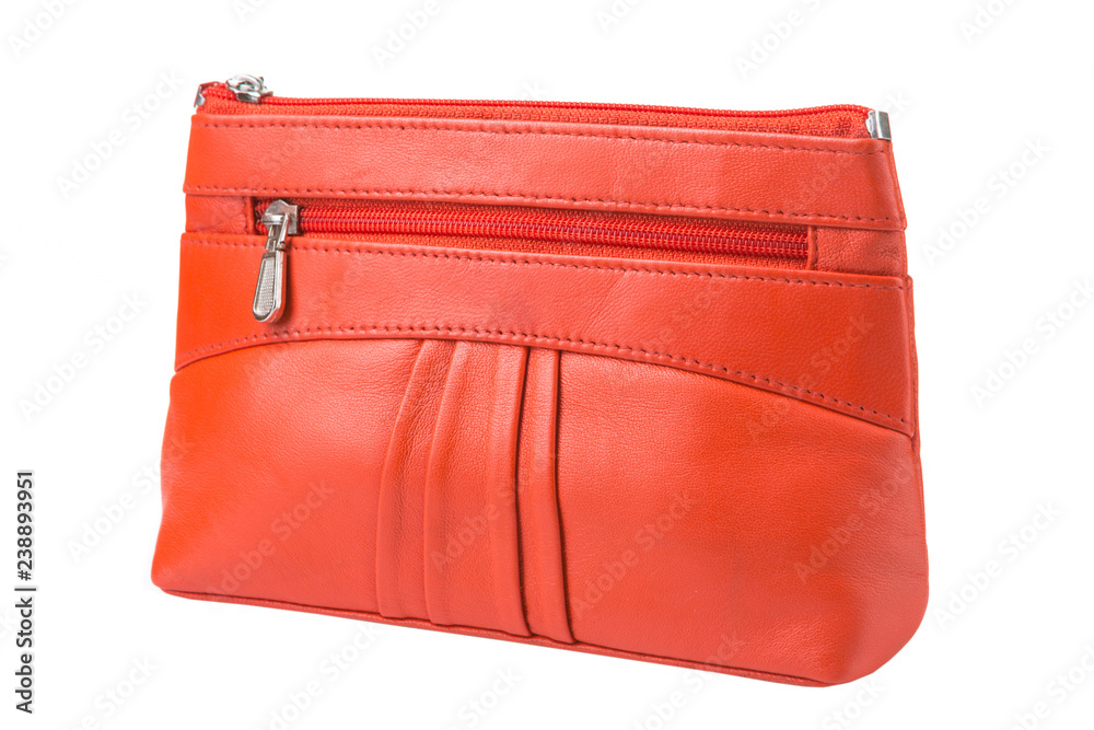 c3c2f2cc Photo & Art Print orange female clutch bag on a white background |  EuroPosters