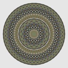 Plate, Floral Mandala, Tray, A...