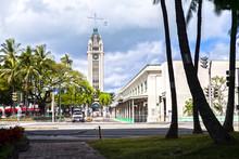 Aloha Tower In Honolulu, Oahu,...
