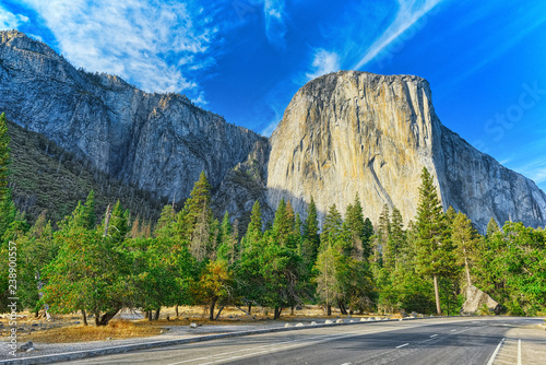 In de dag Centraal-Amerika Landen Yosemite Valley. Magnificent national American natural park - Yosemite.