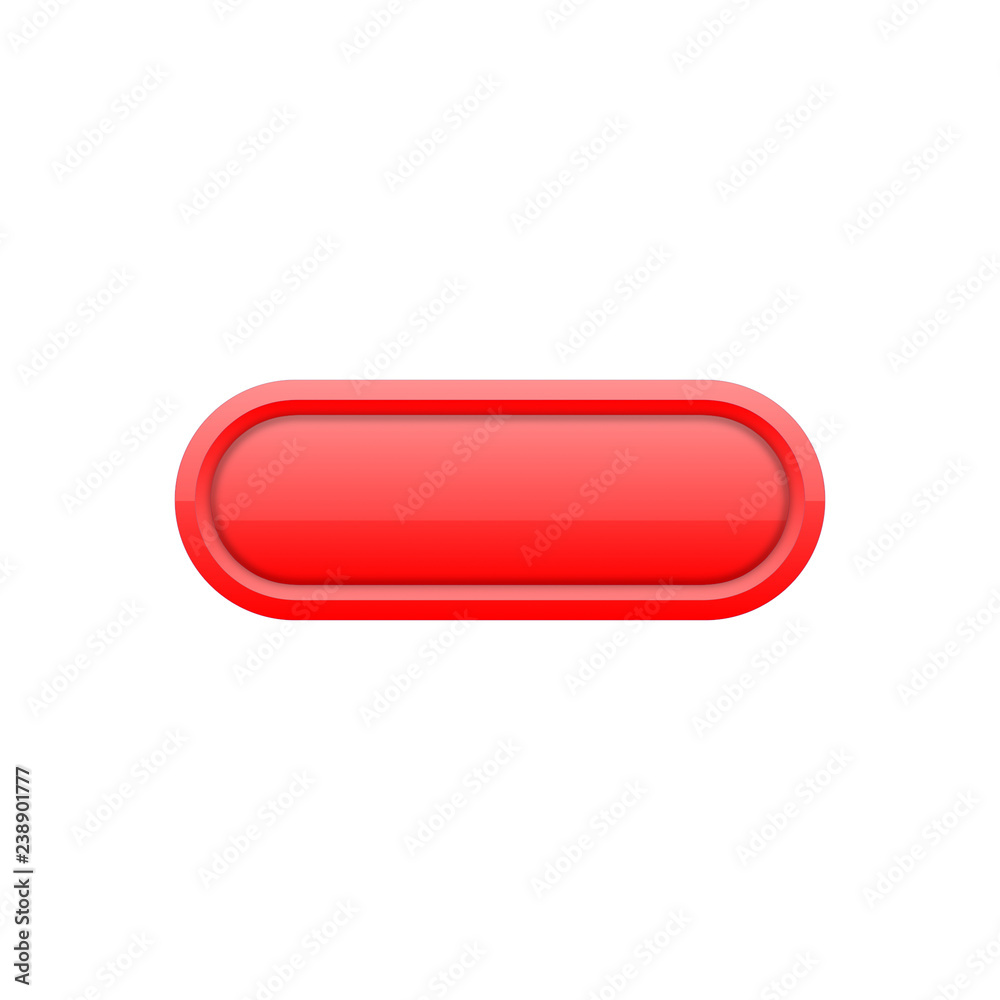 Fototapeta Przycisk uniwersalny czerwony - obraz na płótnie