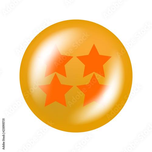Photo  glossy ball with stars