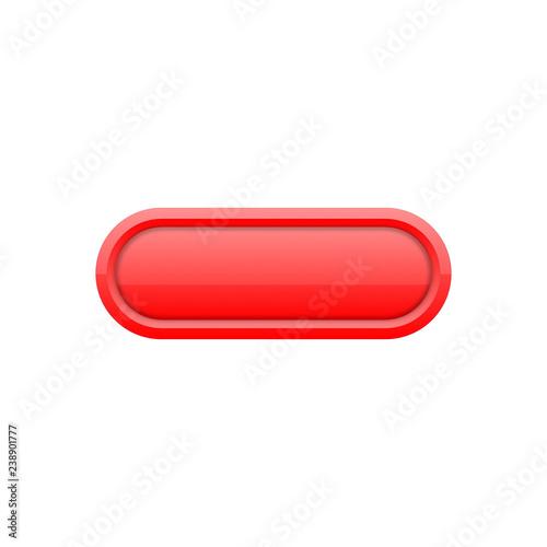 Obraz Przycisk uniwersalny czerwony - fototapety do salonu