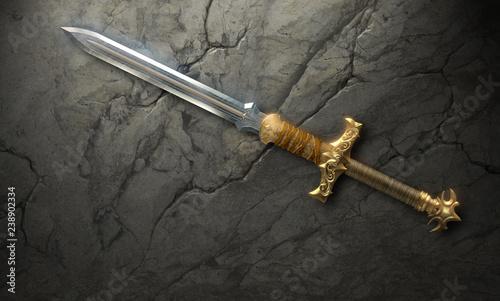 Beautiful fantasy sword Tableau sur Toile