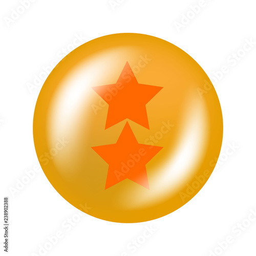 Photo  glossy ball with stars