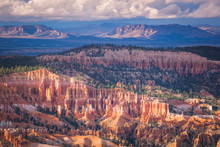 USA, Utah, Rock Formations At Bryce Canyon National Park