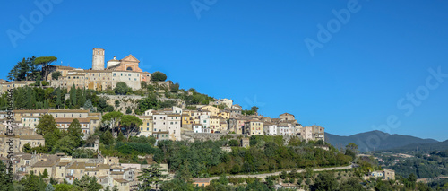 Photo Amelia, Umbria, Italy. Medieval village on the hill