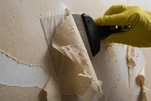 Cleaning The Wall From Old Wallpaper