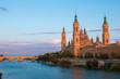 Spanish zaragoza monumental city on the ebro river