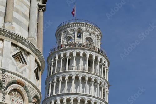 Fototapeta Pisa - Torre pendente in piazza dei Miracoli