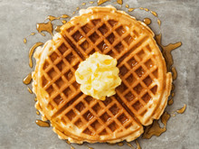 Rustic Traditional Waffle With...
